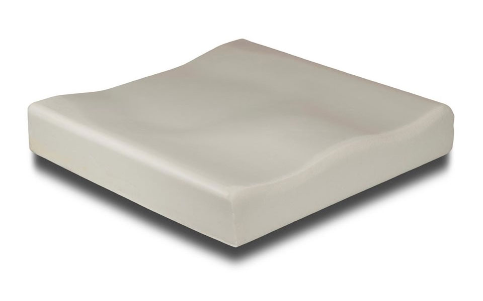 Mildly Contoured, Dual-Layered Foam Base